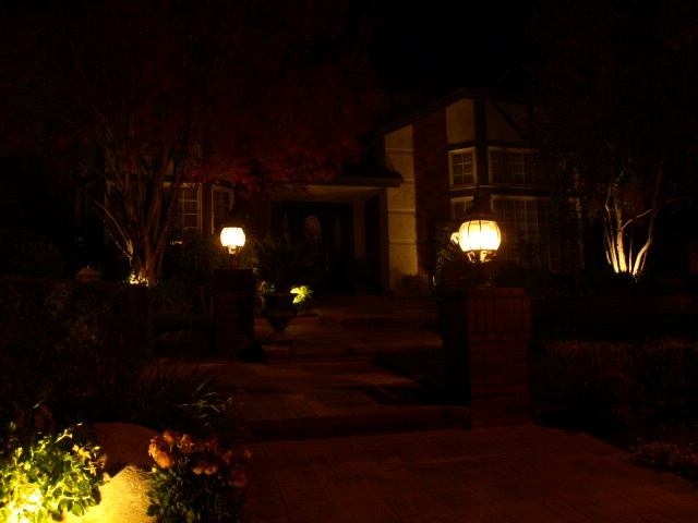 Newbury Park Landscape Lighting Entrance